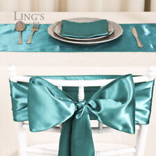 """Satin Chair Cover Bow Sash 6""""x 108"""" Wedding Party Banquet Reception Decorations"""