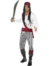 SALE! Adult Caribbean Buccaneer Pirate Mens Fancy Dress Costume Party Outfit
