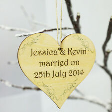 WEDDING MOTHERS DAD DAY DECORATIONS HANGING WOODEN  PERSONALISED CUSTOMISED GIFT
