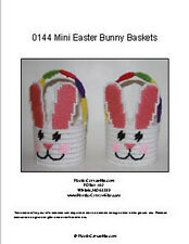 Mini Easter Bunny Baskets-Plastic Canvas Pattern or Kit
