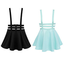 Pastel Goth Punk Lolita Suspender Skirt Mini Ulzzang Zipper Strappy Club Pleated