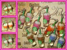 Starbucks Frappuccino Flavors Color Coffee Dangle Silver Plated Earrings US MADE