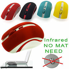USB OPTICAL WIRELESS CORDLESS 2.4GHz SCROLL MOUSE PC LAPTOP WINDOWS MAC INFRARED