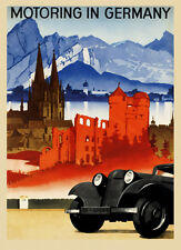 Motoring Car Landscape Germany German Travel Tourism Vintage Poster Repo FREE SH