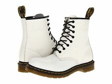 Women's Shoes Dr. Martens 1460 8 Eye Boots 11821100 White Smooth *New*