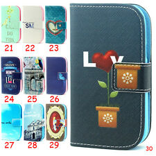Wallet Leather Magnetic Flip Stand Case Cover For Samsung Galaxy Apple iPhone