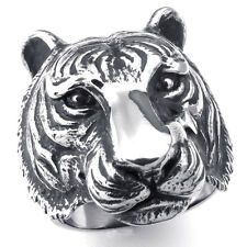 Stainless Steel Tiger Ring Men Women Anniversary Valentine's Gift Jewelry