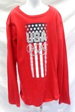Team USA Olympic Youth Long Sleeve Glitter T-Shirt Red