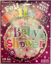 "Baby Shower 18"" Foil Helium Balloon & Baby Shower Wall Banner by Simon Elvin"