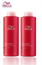 WELLA PROFESSIONAL BRILLIANCE SHAMPOO,CONDITIONER FOR COURSE/THICK HAIR 1000ML