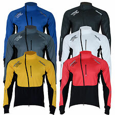 Giacca ciclismo impermeabile WINDSTOPPER invernale termica in pile manica lunga Giacca