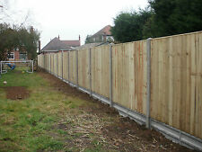 WOODEN FEATHER EGDE FENCE PANELS