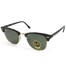 Ray Ban RB3016 W0365 Clubmaster Ebony-Arista/Green Sunglasses Sizes 49 & 51