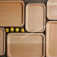 1x JAPANESE OAK WOOD WOODEN SERVING TRAY PLATE TEA FOOD HOME DECORATION