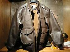 Cockpit USA A-2 Leather Flight Jacket Brown - Big & Tall Sizes Available