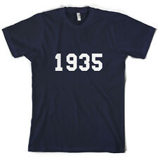 1935 College Style - Mens 80th Birthday Present / Gift T-Shirt - 10 Colours