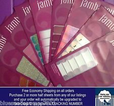 Jamberry Half Sheet Fall Winter Nail Wraps Shields Sparkle Solids Ombre Tips