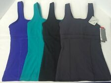 C9 CHAMPION Body Shaping FITTED Athletic Tank Top w/ Bra BLACK GRAY PURPLE GREEN