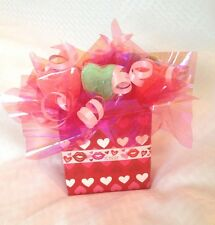 Valentine's Day Birthday Wedding Love Gift Basket Candy Message Heart For Him