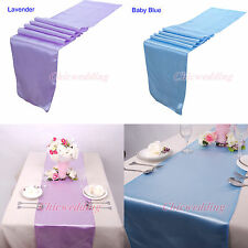 "10PCS/LOT 12""x108"" Table Runner Satin Wedding Party Decoration 30x275cm - Colors"