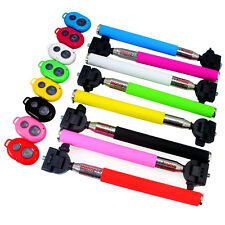 Extendable Selfie Stick Handheld Monopod + App Remote Controller For Cell Phone