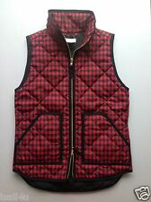 J. Crew Factory Excursion Quilted Puffer Vest In Black Cape Gingham NWT XXS-XXL