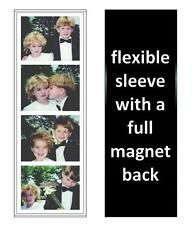 250 Photo Booth Frames made in USA, Full Magnetic Back, white/black, free ship