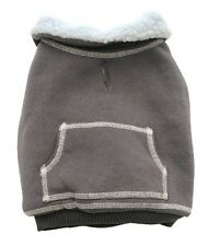 Dogit Winter Collection Fleece Lined Pullover Dog Coat Zipper Jacket Gray