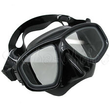 Scuba Black Dive Mask w/ Nearsighted Prescription RX Optical Corrective Lenses