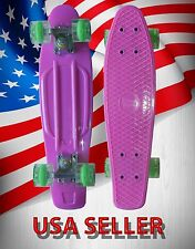 "22""Inch Retro Deck Skateboards With Led Lighted Wheels-Sj22L Neon Pink"
