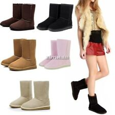 Hot Winter Women Girls Ladys Mid Calf Warm Snow Boots Shoes 5 Colors New A8F
