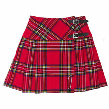 "Tartanista Royal Stewart Red 16.5"" Tartan Mini Kilt Skirt Leather Straps 6-28"