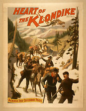 Photo Print Vintage Poster: Stage Theatre Flyer Heart Of The Klondike 03