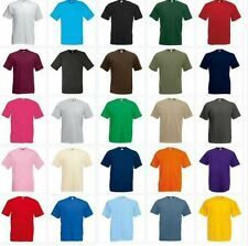 NEW MENS FRUIT OF THE LOOM VALUEWEIGHT PLAIN T SHIRT TOP S - 2XL CHEAP CLASSIC