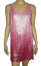 Dorothy Perkins Sparkly Sequin Shift Mini Dress/top PINK Size 8,10,12,14,16 BNWT
