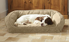 Orvis Pillow Fleece Dog Bed In Black Multi - Large Dogs Up To 60-120 lbs.