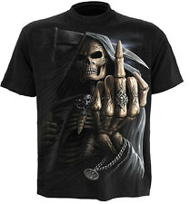 Spiral Direct BONE FINGER t-shirt/tee/top grim reaper/tattoo/metal/gothic/horror