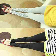 Fashion Pregnancy Women's Solid Maternity Pants Skinny Leggings Casual Trousers