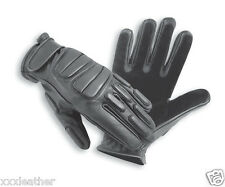 LEATHER/KEVLAR LINED GLOVES IDEAL FOR COMBAT, POLICE, RIOT, SECURITY & TACTICAL