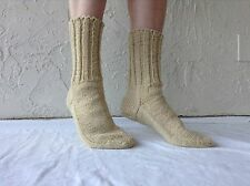Women and Men 100% Heavy Wool Handknit Socks, Sheep's Wool, All Sizes
