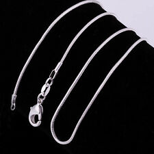 1pc S925 Sterling Silver Classic Snack Bone Chain Charm Pendant Necklace