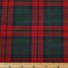 Red And Green Tartan Polyviscose Fabric