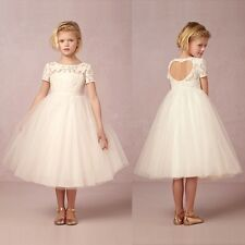 Pageant Flower Girl Princess Wedding Party Bridesmaid Christening Tulle Dress