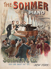 """Advertising Poster : """"The Sohmer Piano"""" (c1876) — Giclee Fine Art Print"""