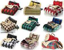 Jeffrey Banks Set of 2 Sherpa and Fleece Throws - PICK A COLOR - BRAND NEW!