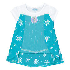 Disney's Frozen Elsa Snowflakes Youth Kid Girls Dress Up T-shirt w/ Cape