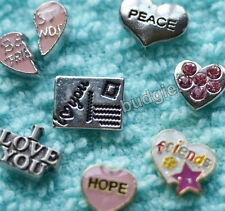 ORIGAMI OWL Charm & LOCKET BOWL Charms Love and Hearts Floating Locket Charms