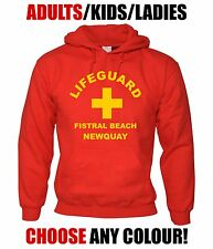 LIFEGUARD Custom Hoodie-CHOOSE TEXT-Personalise-Kids/Adults/Ladies-NEWQUAY/BONDI