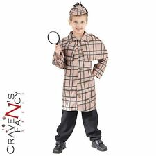 Kids Sherlock Holmes Victorian Old England Detective Fancy Dress Book Day Week