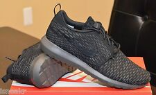 NIKE FLYKNIT ROSHERUN ROSHE MENS SHOE BLACK MIDNIGHT FOG 677243 001